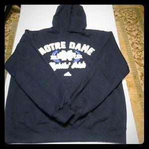 Adidas Notre Dame Fighting Irish Hoodie  NWOT